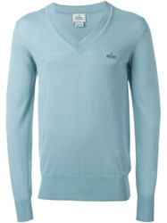 Vivienne Westwood Man V Neck Sweater Blue