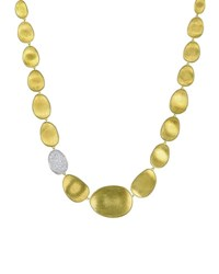 Marco Bicego Lunaria Diamond And 18K Gold Collar Necklace