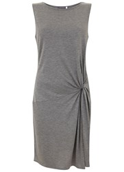 Mint Velvet Grey Marl Twist Detail Jersey Tunic
