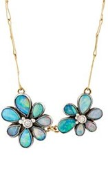 Judy Geib Women's Wildflower Pendant Necklace Colorless