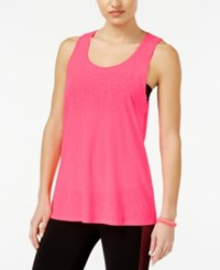Material Girl Active Juniors' Sheer Open Back Tank Top Only At Macy's Flashmode