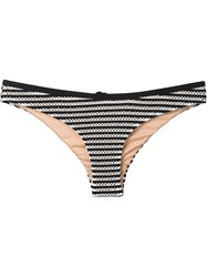 Fleur Du Mal Striped Lace Up Bikini Briefs Black