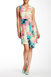 London Times Sun Filled Bloom Dress Petite Blue
