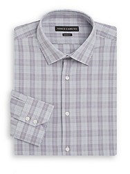 Vince Camuto Modern Fit Plaid Cotton Dress Shirt Amethplad
