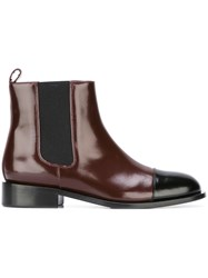 Marni Two Tone Chelsea Boots Red