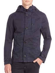 G Star Garber Hdd Short Trench Coat Imperial Blue