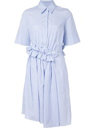 Victoria Beckham Flared Shirt Dress Blue