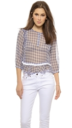 Twelfth St. By Cynthia Vincent Ruffle Blouse