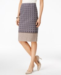 Charter Club Multi Print Pencil Skirt Only At Macy's Cloud Combo