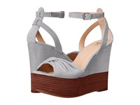 Joe's Jeans Vassar Grey Women's Wedge Shoes Gray