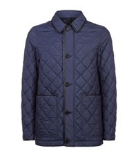 Burberry Blueden Leather Trim Quilted Jacket Male