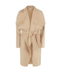 Hugo Boss Catifa Wool Cashmere Waterfall Coat Beige