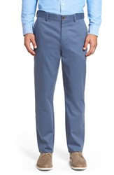 Nordstrom Men's Big And Tall Men's Shop Wrinkle Free Straight Leg Chinos Blue Vintage