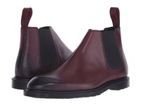 Dr. Martens Wilde Low Chelsea Boot Cherry Red Temperley Men's Pull On Boots Brown