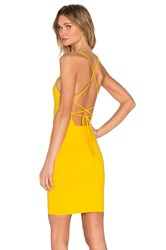 Donna Mizani Cross Back Mini Cami Dress Yellow