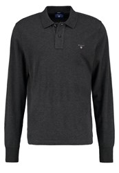 Gant Polo Shirt Anthrazit Melange Anthracite