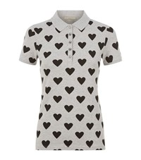 Burberry Love Hearts Polo Top Female Grey
