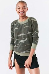 Truly Madly Deeply Hudson Camo Pullover Sweatshirt Green