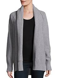 James Perse Open Front Wool Blend Cardigan Black