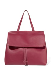 Mansur Gavriel Lady Mini Leather Tote Claret