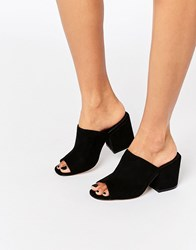 Asos Highland Heeled Mules Black