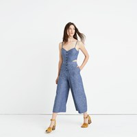 Madewell Chambray Cutout Jumpsuit
