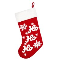John Lewis Grand Tour Ho Ho Ho Stocking With Fur Cuff Red White