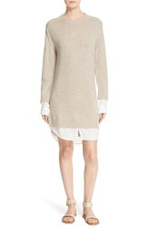 Brochu Walker Women's 'Looker' Wool And Cashmere Sweater Dress Vicuna Melange