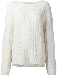 Nili Lotan Cable Knit Jumper White
