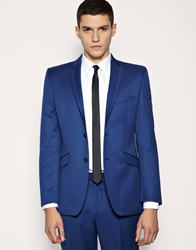 Lambretta Blue Plain Tonic Suit Jacket
