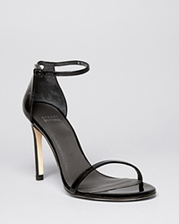 Stuart Weitzman Ankle Strap Sandals Nudistsong High Heel Patent Black