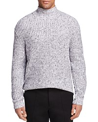 Alexander Wang T By Chunky Mock Turtleneck Sweater Black And White