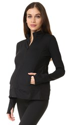 Ingrid And Isabel Active Side Zip Maternity Jacket Black