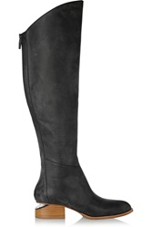 Alexander Wang Sigrid Lizard Effect Leather Over The Knee Boots