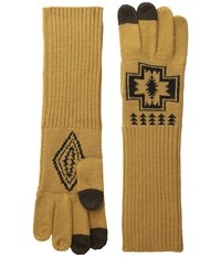 Pendleton Long Gloves Harding Oxford Mix Wool Gloves Gold