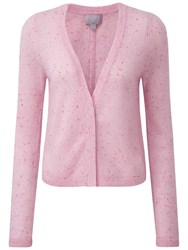 Pure Collection Aimee Gassato Cashmere Cardigan Pink Fleck