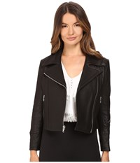 Yigal Azrouel Krispy Leather Moto Jacket Black