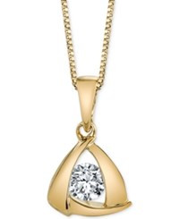 Sirena Diamond Triangle Pendant Necklace 1 5 Ct. T.W. In 14K Gold Or White Gold Yellow Gold