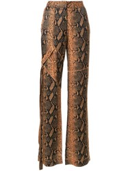 Manning Cartell Snakeskin Print Trousers Brown