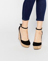 Asos Oval Wedges Black