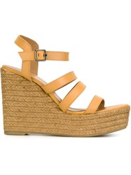 Castaner Castaner 'Zayna' Wedge Sandals Nude And Neutrals