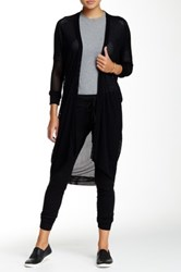 Riller And Fount Mesh Long Sleeve Cardigan Black