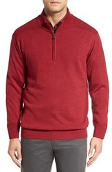 Cutter And Buck Men's Big Tall 'Douglas' Quarter Zip Wool Blend Sweater Stewart Heather