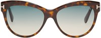 Tom Ford Tortoiseshell Lily Sunglasses