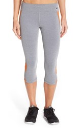 Women's Trina Turk Heathered Mesh Crop Leggings