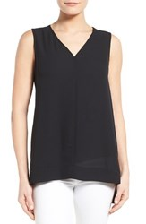 Women's Pleione Sleeveless V Neck Top Black