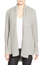Women's Leith Hooded Fuzzy Open Front Cardigan