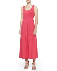 Joan Vass Tiered Long Tank Dress Women's