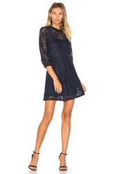 Bcbgeneration Lace Fit And Flare Dress Blue