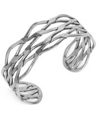 Lucky Brand Silver Tone Twisted Cuff Bracelet
